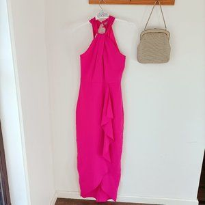 Forcast fuchsia formal maxi engagement ball gown